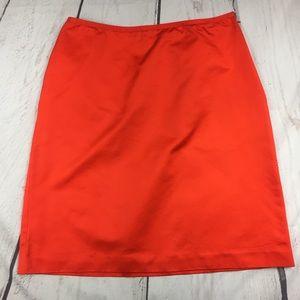 Anne Klein Cotton Orange Skirt size 10!